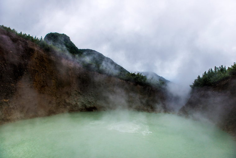 Dominica Carribean, Valley of Desolation, Boiling Lake, Boiling Lake, Walkopedia