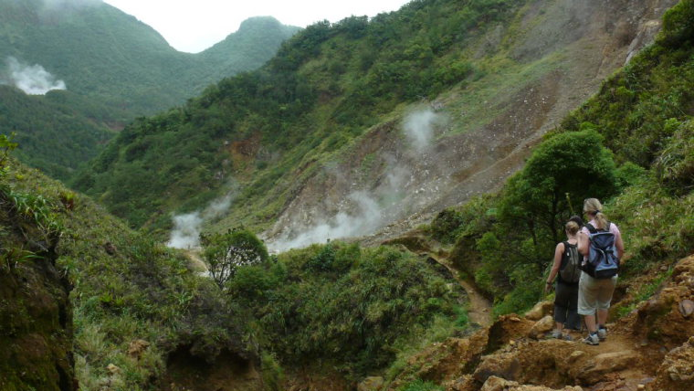 Dominica Carribean, Valley of Desolation, Boiling Lake, Valley of Desolation, Walkopedia