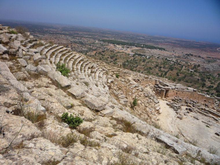 Libya, Cyrene, Greek theater at Cyrene, Walkopedia