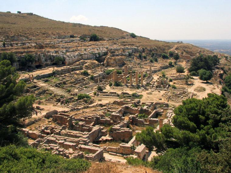 Libya, Cyrene, View of Cyrene, Walkopedia