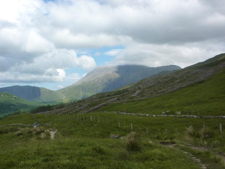 United Kingdom Scotland SW Highlands, Kinlochleven to Fort William, View of Ben Nevis, Walkopedia