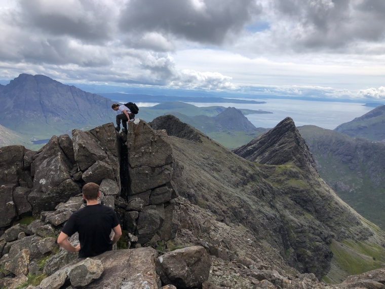 Sgurr nan Gillean: Final clamber to the summit - © Henry Shaw