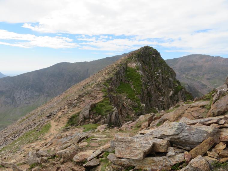 United Kingdom Wales Snowdonia, Y Lliwedd, LLiwedd summit, Walkopedia