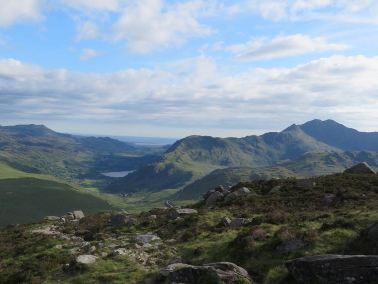 United Kingdom Wales Snowdonia, Y Lliwedd, LLiwedd from ... near Glyder Fach, Walkopedia