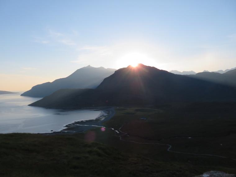 United Kingdom Scotland Isles Skye, Isle of Skye, Sgurr na Stri, Black Cuillin from Camasunary walk, late, Walkopedia