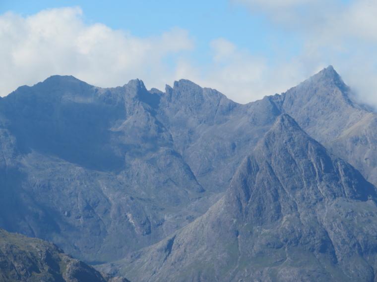 United Kingdom Scotland Isles Skye, Isle of Skye, Central  Black Cuillin Ridge from Sgurr na Stri ridge, Walkopedia