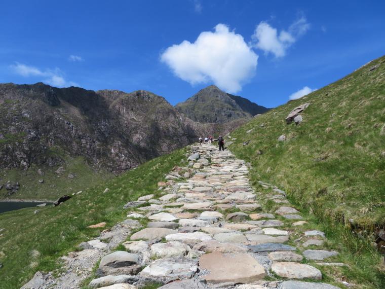 United Kingdom Wales Snowdonia, Miners, Pyg Tracks , Miners Track, above LLyn LLydaw, Walkopedia