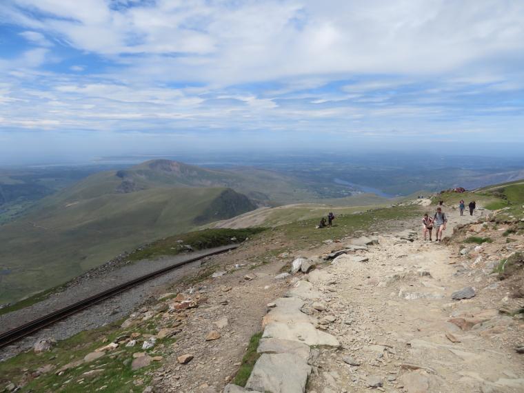 United Kingdom Wales Snowdonia, Miners, Pyg Tracks , Summit, north along railway to Anglesey, Walkopedia