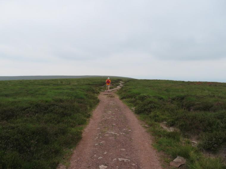 United Kingdom Wales Black Mountains, Black Hill Ridge, Hatterrall ridge, slighly featureless aspect, Walkopedia