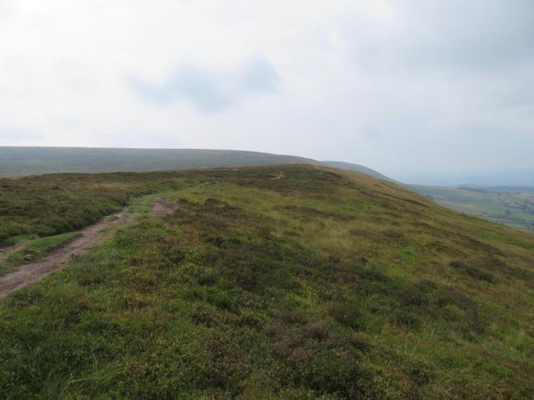 United Kingdom Wales Black Mountains, Black Hill Ridge, Black Hill  flank looking north, Walkopedia