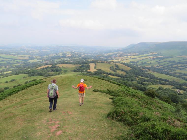 United Kingdom Wales Black Mountains, Black Hill Ridge, Bottom of Black Hill ridge, Walkopedia