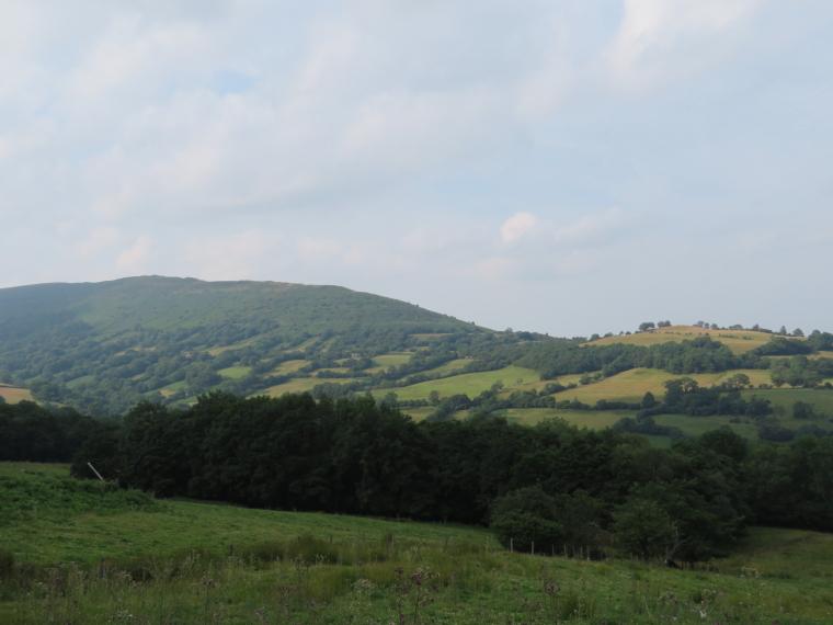 United Kingdom Wales Black Mountains, Black Hill Ridge, Deceptively ordinary looking Black Hill ridge from Black Mountain flank, Walkopedia