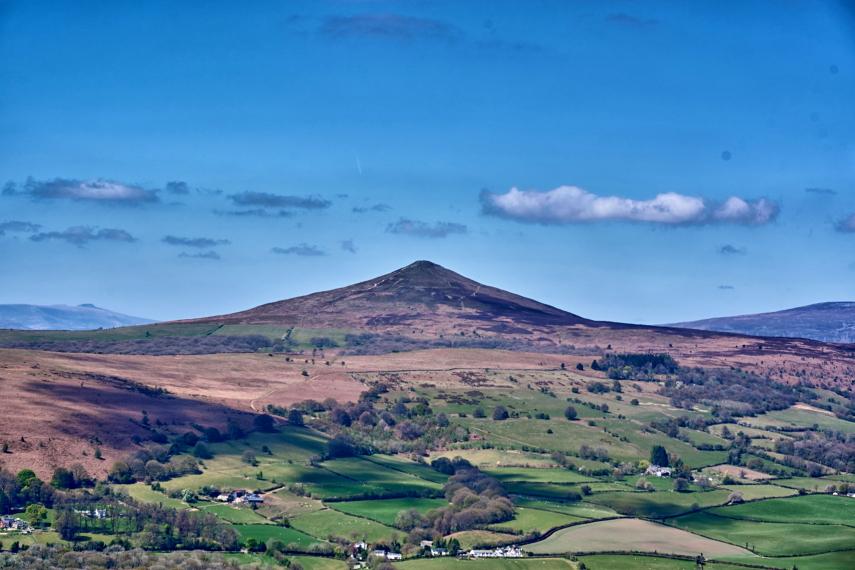 United Kingdom Wales Black Mountains, Sugarloaf, View of Sugarloaf, Walkopedia