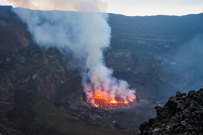 Rwanda, Virunga Mountains, Nyiragongo volcano, Walkopedia