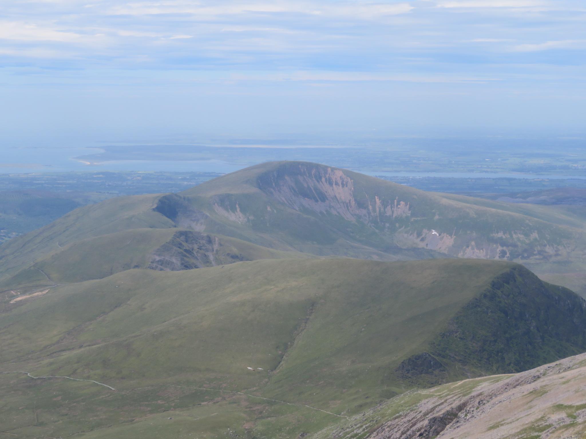 United Kingdom Wales Snowdonia, Snowdon Horseshoe, North from summit, Walkopedia