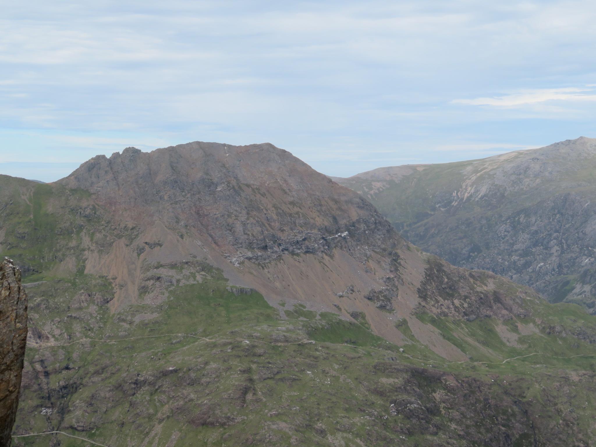 United Kingdom Wales Snowdonia, Snowdon Horseshoe, Crib Goch from LLiwedd, Walkopedia