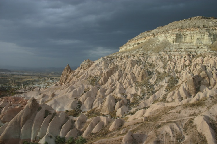 Cappadocia: White Hill before evening storm - © William Mackesy