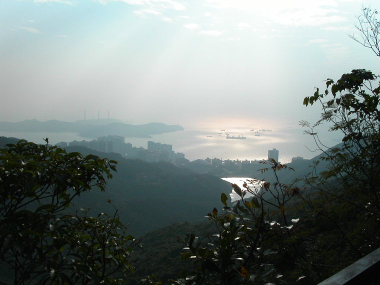 China Hong Kong, The Peak, West, late afternoon, Walkopedia