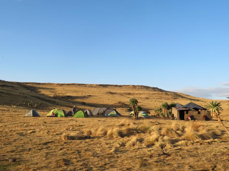 Simien Mountains: Geech camp - © William Mackesy