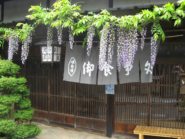 Wisteria in O-Tsumago - © Walk Japan