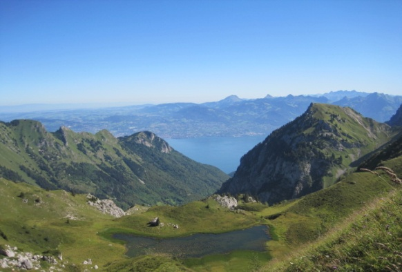 Last view of Lac Leman From Col de Bise - © Christopher MacRae