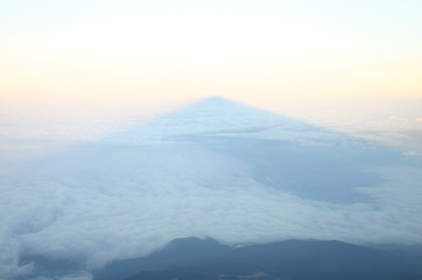 "Mt Meru: Meru""s dawn shadow - © William Mackesy"