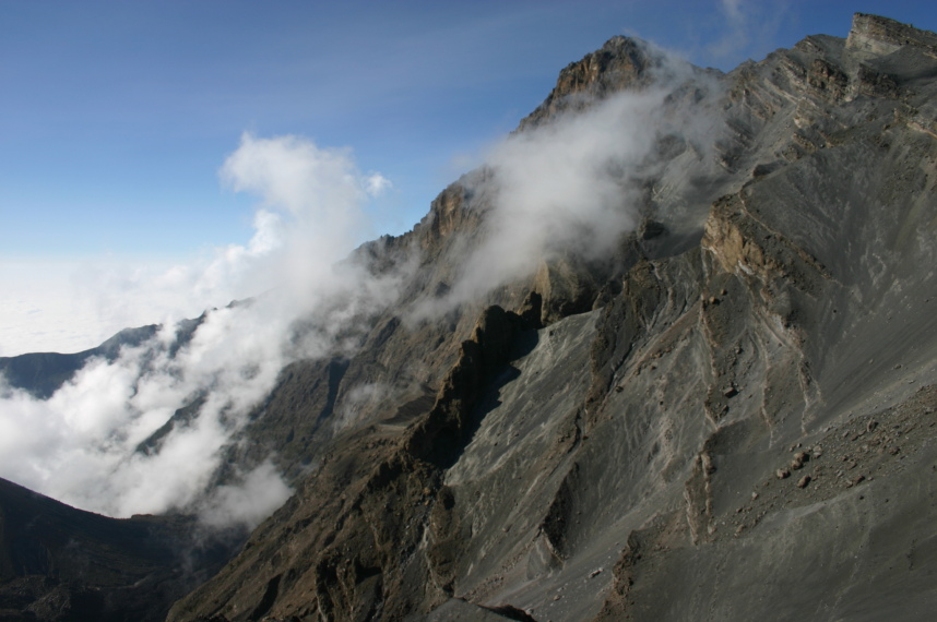 Mt Meru: below High peak - © William Mackesy