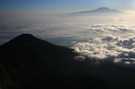 Mt Meru - Kili at dawn - © William Mackesy