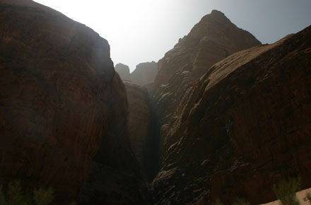 Wadi Rum - Above Barrah Canyon - © William Mackesy