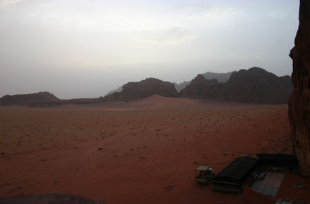 Wadi Rum - Southern end of Jebel Rum at sundown - © William Mackesy