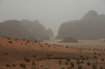 Wadi Rum - View From top of Wadi Siq Makhras - © William Mackesy