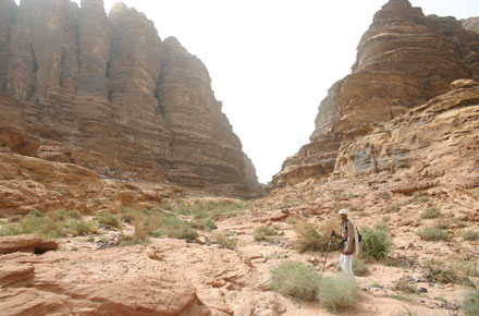 Wadi Rum - Wadi Siq Makhras, half way up - © William Mackesy