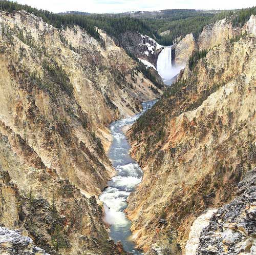Yellowstone NP - Yellowstone Falls, and Yellowstone Grand Canyon - © By Flickr User kiran431
