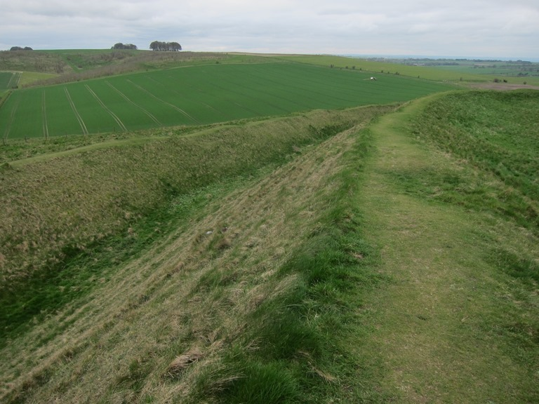 Barbury Castle earthworks - © William Mackesy