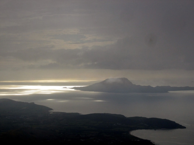Croagh Patrick: Croagh Patrick - Sunset - © Copyright Flickr User John Brennan