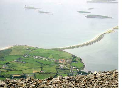 Croagh Patrick: Croagh Patrick - View of Clew  - © Flickr user john brennan