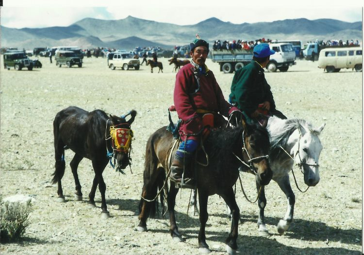 Altai Mts - Arriving at Nadaam, 1999 - © Copyright William Mackesy