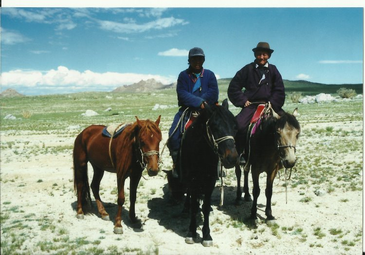 Mongolia, Altai Mountains, Altai Mts - Arriving at Nadaam, 1999, Walkopedia