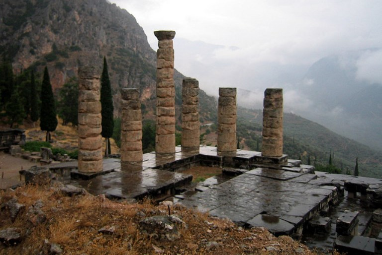 temple of apollo, delphi, mt parnassus  - © flickr user wallyg