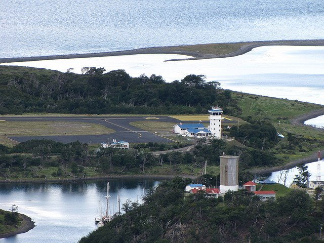 Dientes Circuit: Dientes Circuit - Puerto Williams airport, From the walk - © Copyright Flickr user dreamX