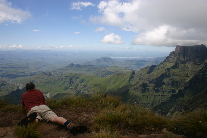 South Africa Drakensberg, North Drakensberg Traverse, From Tugela Falls, Walkopedia