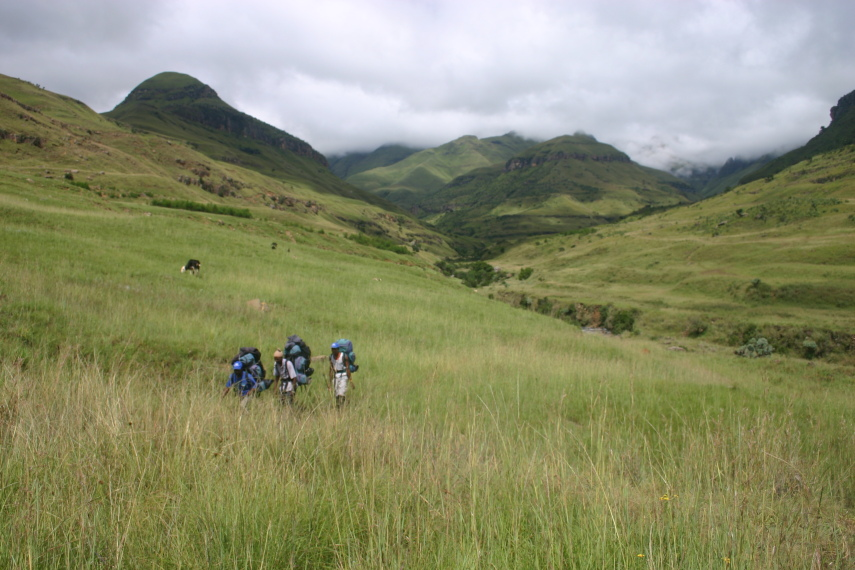 South Africa Drakensberg, North Drakensberg Traverse, Grasslands, Walkopedia