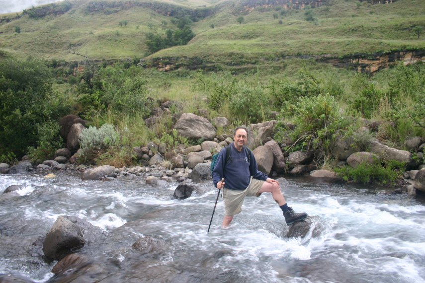 North Drakensberg Traverse: Near the end and too tired to remove boots - © William Mackesy