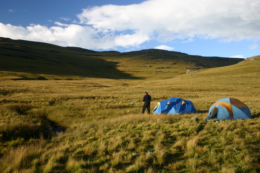South Africa Drakensberg, North Drakensberg Traverse, camping night 2, Walkopedia