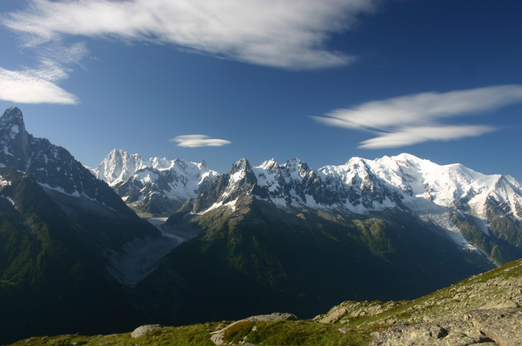 Mont Blanc Area - Mt Blanc From Aiguilles Rouges - © William Mackesy