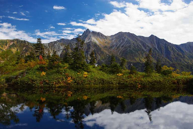 Mt.Yarigatake is reflect in the pond - © N.kimy - flickr user