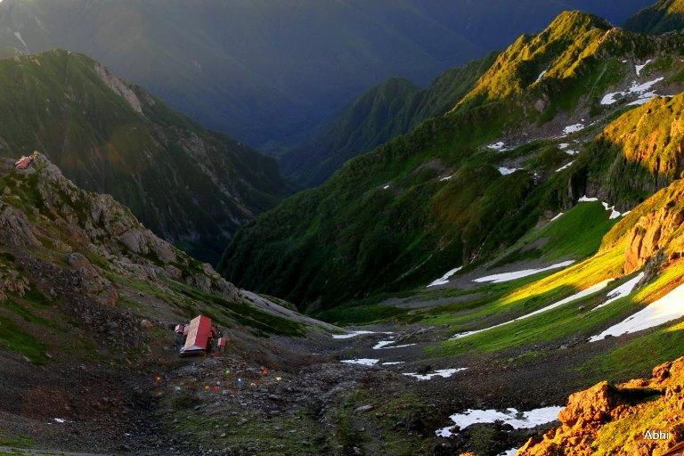 Japan Japanese Alps (Chubu), Mt Yarigatake, This way we came up., Walkopedia