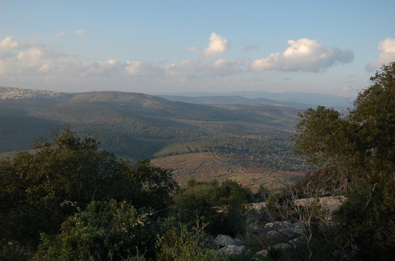 Israel, Israel National Trail, A view from Mount Tabor , Walkopedia