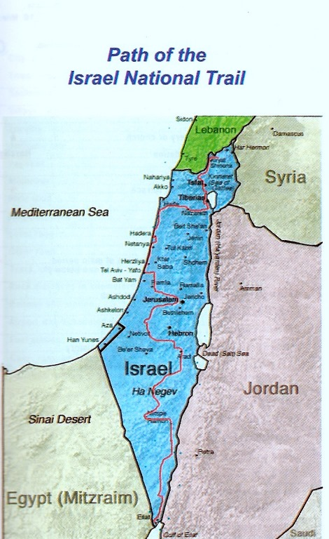 Israel, Israel National Trail, Map, Walkopedia
