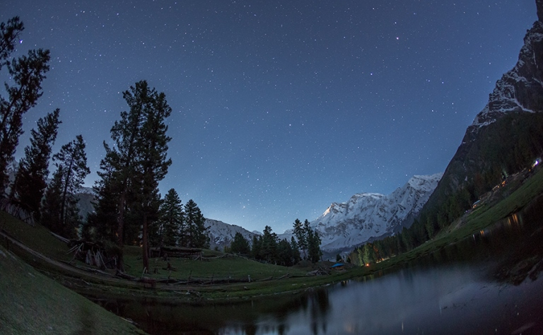 The moon and the stars over Nanga Parbat  - © Ahmed Sajjad Zaidi flickr user